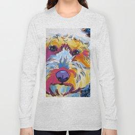 Goldendoodle or Labradoodle Pop Art Dog Portrait Long Sleeve T-shirt
