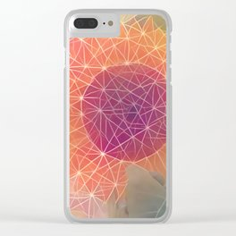 Sunflower Constellation Clear iPhone Case