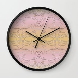 Abstract Water Alternate Color Wall Clock