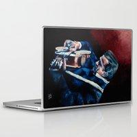 johnny cash Laptop & iPad Skins featuring Johnny Cash by Nicole Kallenberg
