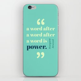 A Word Is Power iPhone Skin