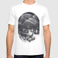 Strangers Mens Fitted Tee X-LARGE White
