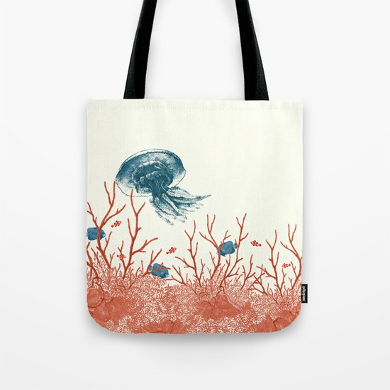 Aquatic Pattern Tote Bag