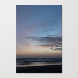 Moon Over Tide Canvas Print