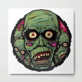 Drawlloween 2015 - Day 8 - Zombie Metal Print