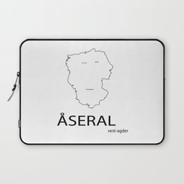 map of åseral Laptop Sleeve