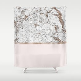 Gleaming rose gold blush Shower Curtain