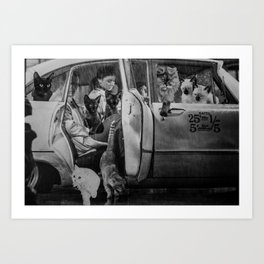 Carpool Art Print