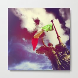 The angel and the flag Metal Print