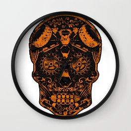 Strongman Sugar Skull, Dia De Los Deadlift Wall Clock