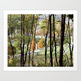 Beautiful Autumn Day at Allegheny Cemetery, Pittsburgh, Pennyslvania Art Print