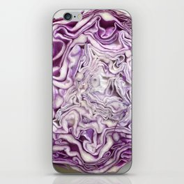 Purple Cabbage Slice iPhone Skin