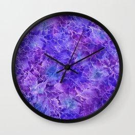 Frozen Leaves 20/a Wall Clock