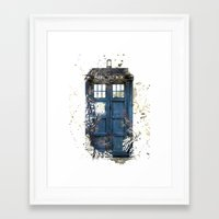 tardis Framed Art Prints featuring Tardis by Zhavorsa