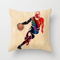 basketball Throw Pillows featuring Basketball by marvinblaine