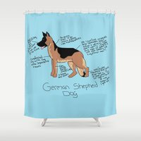 german Shower Curtains featuring German Shepherd by Lindsay Beth