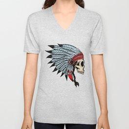 American Indians Death face Design Unisex V-Neck