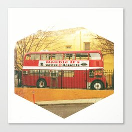 Bus Cafe Canvas Print