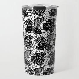 Pegasus Pattern Black and White Travel Mug