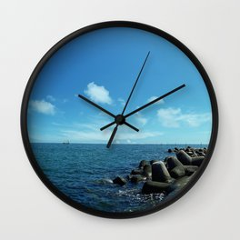 Black sea Wall Clock