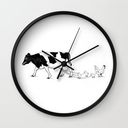 Cow vs. Chicken Wall Clock