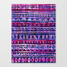 Hau'oli Stripe Purple Canvas Print