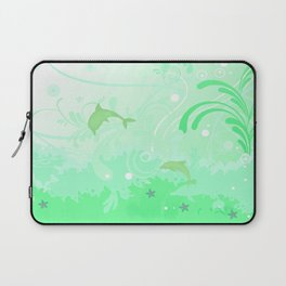 Dolphins Swimming Laptop Sleeve