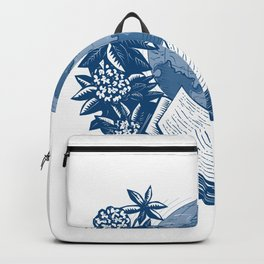 Orcas Island Map Book Rhododendron Drawing Backpack