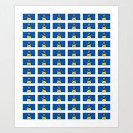 Sainte lucieFlag of Saint Lucia-Saint Lucia,Sainte Lucie,Saint Lucian,Lucien,Castries. Art Print