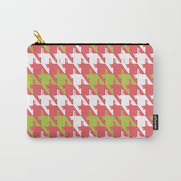 Where is the reindeer of Santa?_L White&Coral Carry-All Pouch
