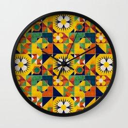 Spanish tiles Wall Clock