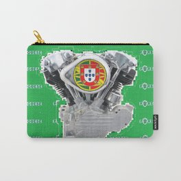 Portuguese Biker soccer fan. Carry-All Pouch