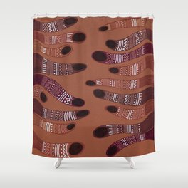 moving towards each other Shower Curtain