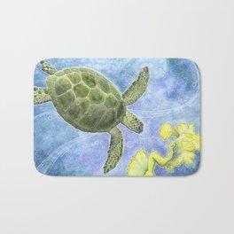 The Sea Turtle and Sea Nymph Bath Mat