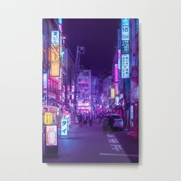 Tokyo a Neon Garden Metal Print