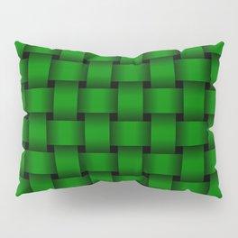 Green Weave Pillow Sham