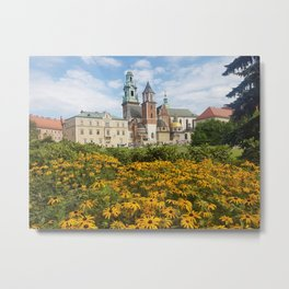 Castle in Krakow Metal Print