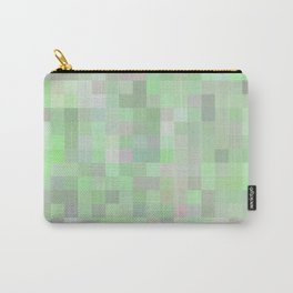geometric square pixel pattern abstract in green and pink Carry-All Pouch