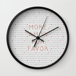 More Amor Rose Gold, Romantic Quote Wall Clock