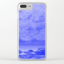 The Black Rocks at Trouville Japanese Porcelain Concept Clear iPhone Case