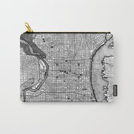 Vintage Map of Philadelphia PA (1895) BW Carry-All Pouch