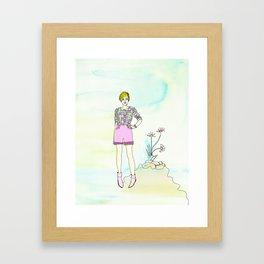 PING PONG KITTEN Framed Art Print