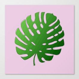 Palm Tree Leaf Art Print Canvas Print