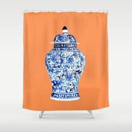 GINGER JAR NO 6 TANGERINE Shower Curtain