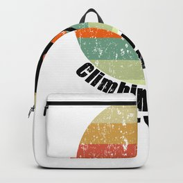 Climbing Rocks Your World - Retro Color Climbing Gift - Distressed Look Backpack