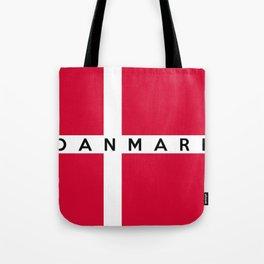 denmark country flag danmark name text Tote Bag