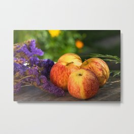 An apple a day keep doctor away Metal Print