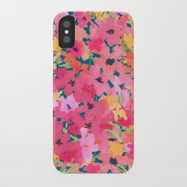Pink and Peach Garden iPhone Case