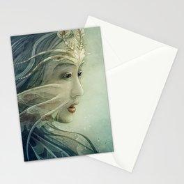 Lionfish mermaid Stationery Cards