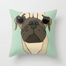 Puglet Throw Pillow